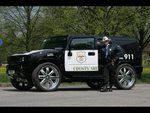 The coolest police car ever (Hummer H2)