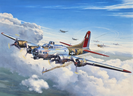 B 17 Bomber Paintings B 17  B17 Bomber Drawing