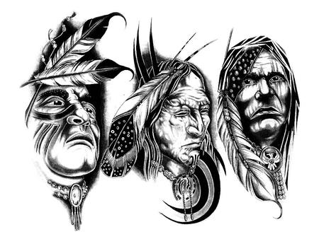Native American Tattoo Designs Fantasy Abstract