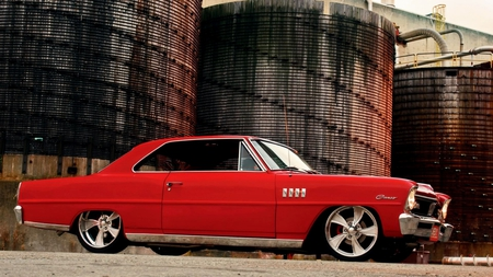 '67 Chevy Acadian Canso - red, 67, ii, ss, muscle, canso, chevy, custom, 1967, antique, acadian, chevrolet, car, canadian, classic