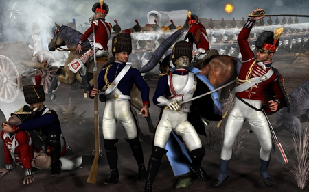 Napoleonic Battle - napoleon, war, 3d, battle