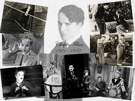 Chaplin Collage - funnymen, stars, photography, chaplin, men, celebrities, famous, comics