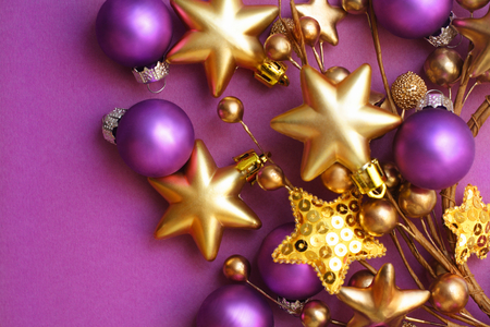 merry christmas - Purple And Gold Christmas Decorations
