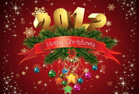 Welcome 2012 - numbers, christmas, nice, date, year, new year