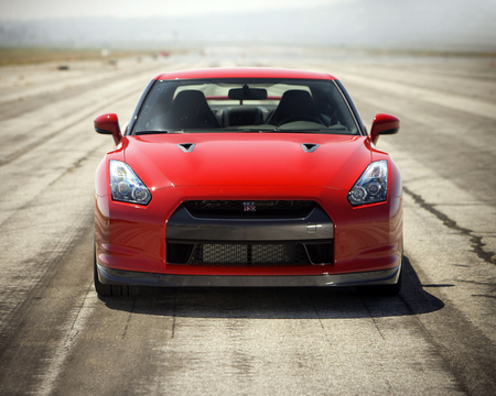 nissan gtr - red, nissan, car, gtr, fast