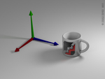 Wings3D cup by Kerem Kupeli