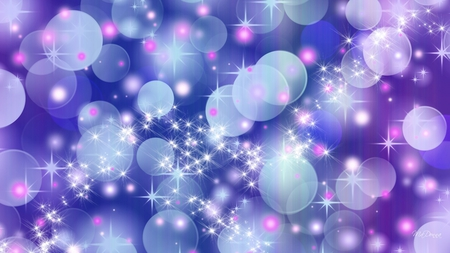 Bokeh Gone Wild - firefox persona, blue, bokeh, lavender, abstract, glow, bright, purple, stars, lights