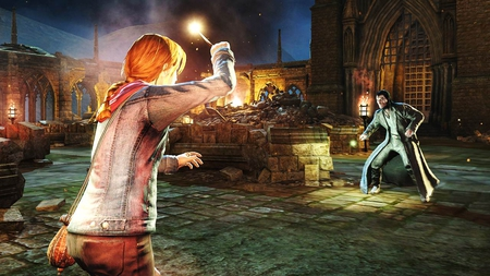Hermione Fighting Fenrir Greyback - video games, hermione, fenrir greyback, other