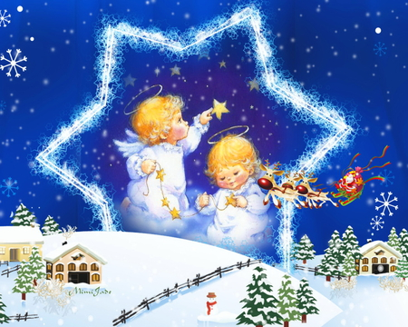 Angels Christmas Background.Christmas Angels Other Abstract Background Wallpapers On