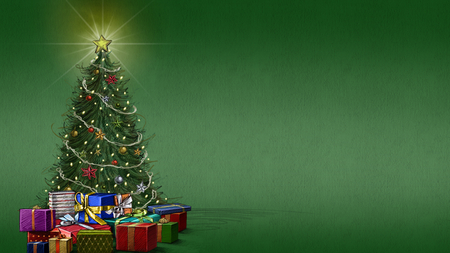 Christmas Tree Background.Christmas Tree 3d And Cg Abstract Background Wallpapers