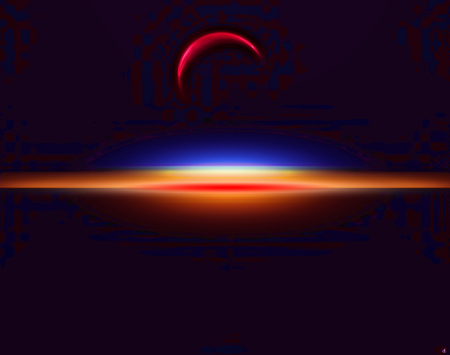 Simple moon - moon, light flare, red, black background