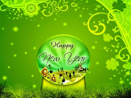 Happy New Year for all my friends on DN and for everyone - fantasy, everyone, green, friends, gift, happy, all, new year