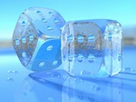 Transparent Blue Dice