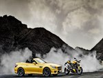 Mercedes Benz SLK 55 AMG and Ducati Streetfighter 848