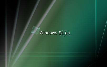 Windows 7  - logo, the new generation, windows 7, green, windows