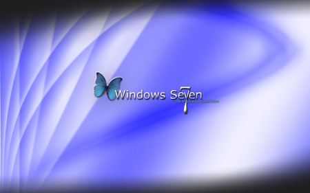 Windows 7-2 - butterfly, logo, the inspiration generation, blue, windows 7, windows