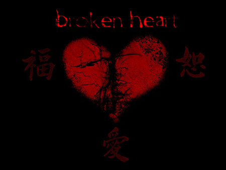 The broken heart in gothic style - bloody, gothic, broken, heart