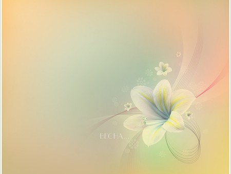soft pastels - nice, lily, flower, tender, cool, colours, soft, amasing, pastel, milky