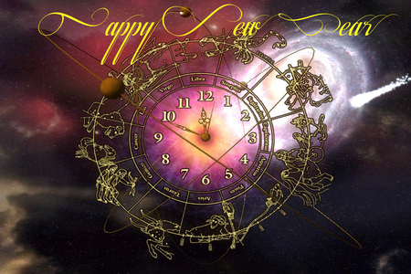 Happy New Year - 2012 - art, 2012, abstract, happy, year, happy new year, new, beatiful