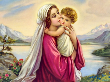 mother mary jesus christ the lord wallpapers and images desktop