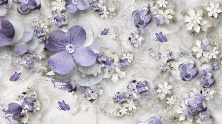 Purple paper flowers flowers nature background wallpapers on purple paper flowers mightylinksfo