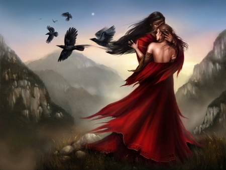 Fantasy Love - love, fantasy, wallpaper, women