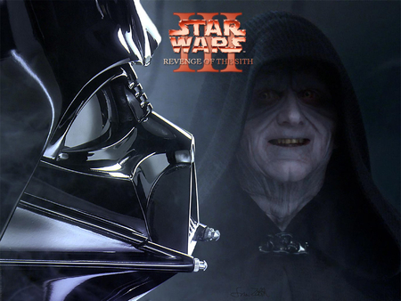 revenge of the sith - darth vader, laughing, cloak, mask, emporer