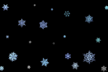 Snowflakes - snowflake, black and blue, winter, snowflakes