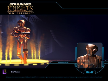 knights of the old republic - platform, droid, steam, weapon
