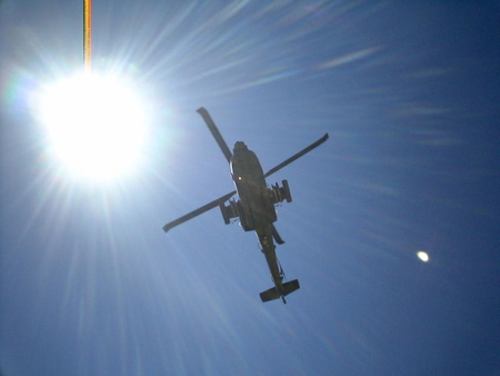 Apache Helicopter Overhead - apache, attack helicopter, chopper, helicopter
