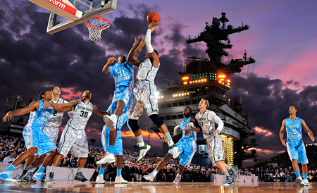 game on uss carl vinson - on, basketball, uss, carl vinson, game