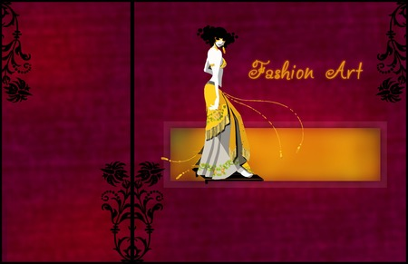 Deco Lady of Fashion - art, lady, art deco women, fashion