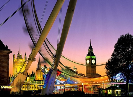 London Eye - london, image, lights, photograph, night, london eye, pic, sky, europe, wall, big ben, england, wallpaper, city, uk, picture, photo