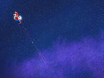 Super Mario Galaxy - Flying through space