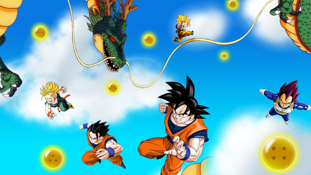 Dragon Ball Z Kai - Saiyans HD - dbz, super saiyan, gohan, saiyan, trunks, vegeta, dragon ball z, dragon ball z kai, dragonball, kai goku, goten