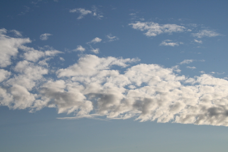 Clouds 01 - photography, white, clouds, sky, blue