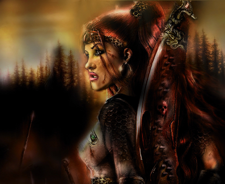 final fantasy chonicles(juztina the impalor) - chainmail, sunset, eerie, sundown, amazing wallpaper, forever, newwalpaper, ancestor, warrioress, sword, desktopnexus, chain, cut, chronicle, skulls, oldtimes, windy, sine, canada, free, autumn, fantasy wallpaper, red head, woman, earing, atmosphere, hair, skyline, wild, wallpapers, wod, warior, jjewl, forest, female, model, blood, magical, princess, armour, vlads daughter, juztina