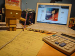 Danbo Doing His Math