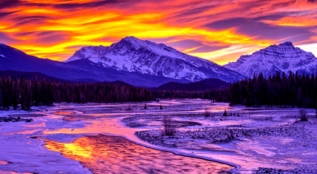 Winter Beautiful Sunset