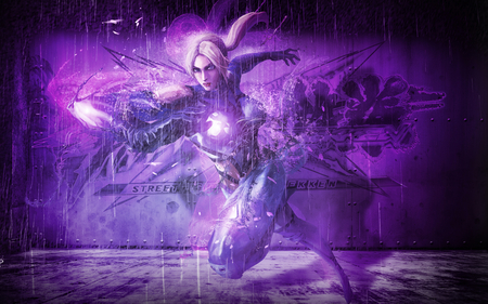 NINA - williams, fighter, video game, game, women, yellow hair, fantasy, anime, hot, dream, fairy, art, angel, abstract, nina williams, tekken, 3d, girl, death by degrees, nina