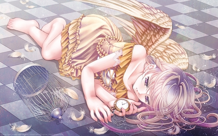 Beautiful Resting Angel - rest, angel wings, watch over, angel, love, beautiful