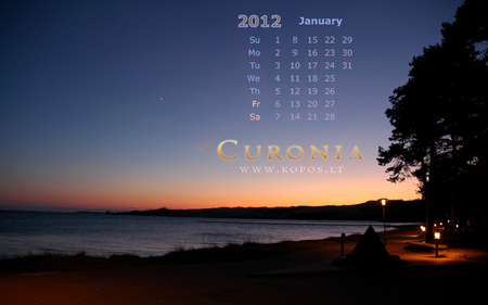 Silence of the night in Curonia - world, january, lithuanian, 2012, kurische, national, curonia, beautiful, magic, neringa, spit, calendar, sand, dunes, heritage, darkness, list, nehrung, legend, beauty, monthly, night, harmony, unesco, silence, kopos, curonian, unique, park, nature, mirages, landscape