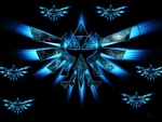 Epic blue triforces