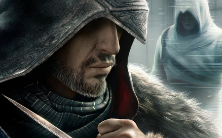Assassins Creed Revelations - hood, silent, ezio, hidden blade, assassin