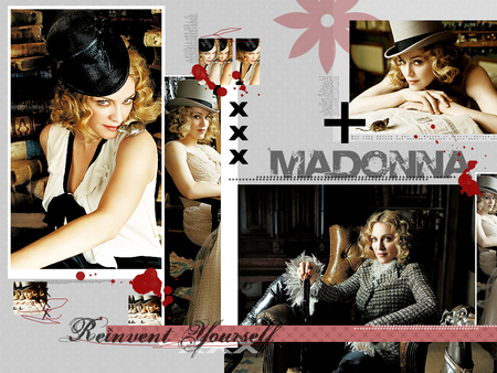 Madonna - blonde, madonna, collage, music