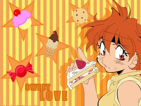 Sweet Love - candy, lina inverse, sweets, slayers, cupcake, cookies, the slayers, icecream, cakes