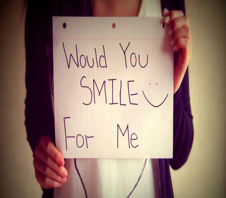 Smile.......? - quote, smile, happy, hope, do not loose hope, please smile