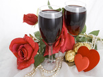 Valentines day wine