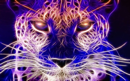 Cheetah - fractalius, glow, cheetah, beauty, sparking, animals