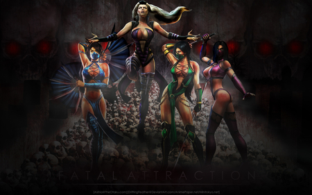 Fatal Attraction - stunning, hd, action, cg, pose, video game, game, digital art, fantasy, hot, girls, ninja, hottie, babe, female, breast, sexy, girl, mortal kombat, style